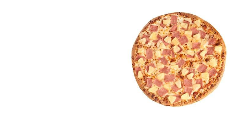 Pizza Hawaiana.